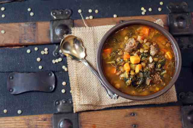 Lentil Soup with Kale and Sausage | 365daysofeasyrecipes.com #lovelentils