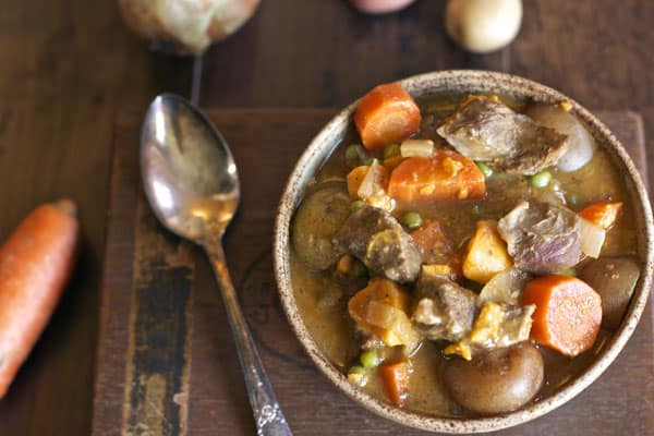 A delicious classic beef stew prepared in the slow cooker | 365 Days of Easy Recipes