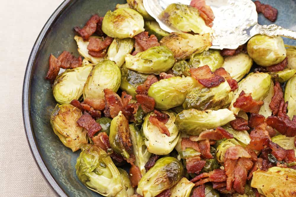 Roasted Brussels Sprouts Recipe With Bacon 365 Days Of
