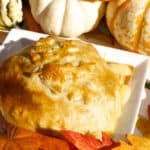 Baked Brie in Puff Pastry with Candied Pecans and Maple Syrup