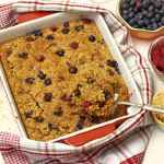 Baked Berry Oatmeal with Raspberries & Blueberries that can be made the night before | 365 Days of Easy Recipes