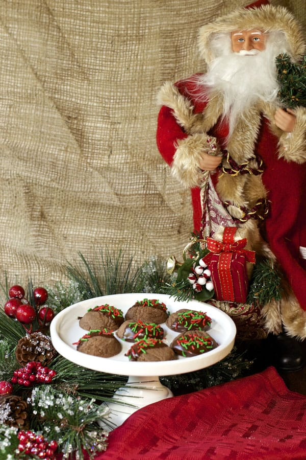 Double Chocolate Mint Christmas Cookies | 365 Days of Easy Recipes