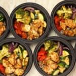 Rainbow Vegetable Chicken Bowls