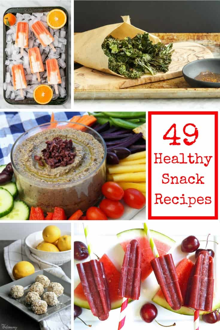 49 Healthy Snack Recipes for home and lunch boxes