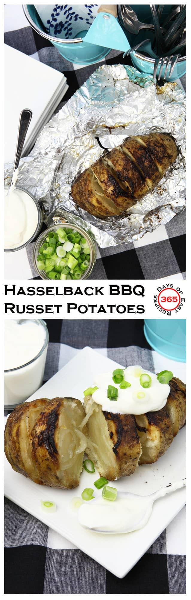 hasselback bbq russet potatoes u0026 a baked potato bar 365 days of