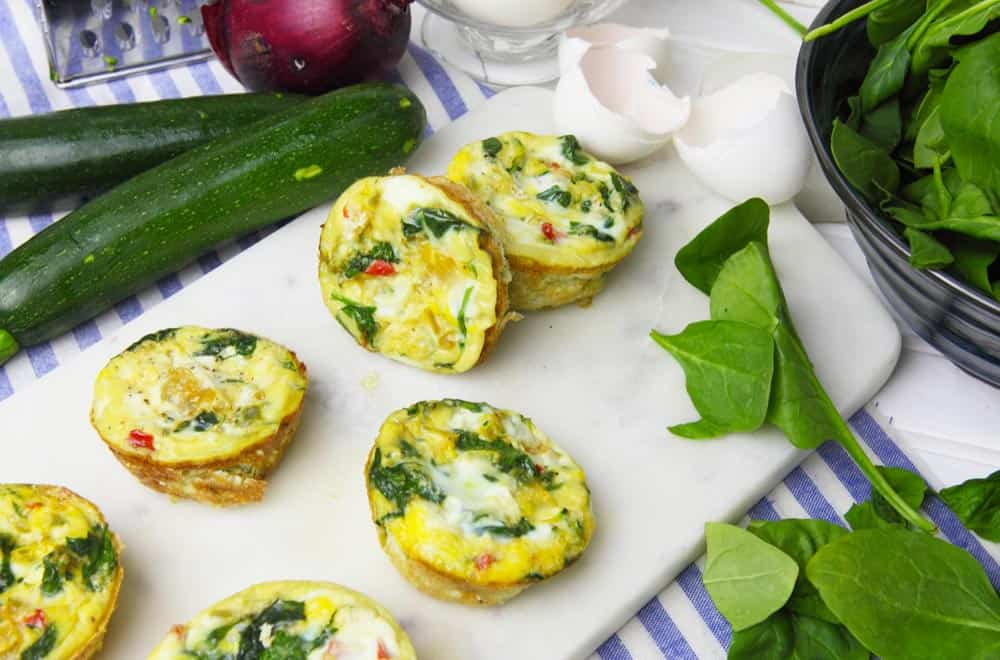 Healthy Baked Egg Cups - make ahead and freezer friendly
