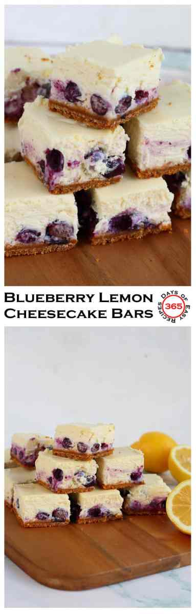 Blueberry Lemon Cheesecake Bars are the perfect spring dessert.