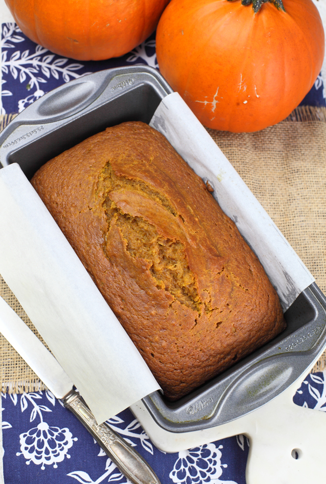 Pumpkin Spice Bread in loaf pan