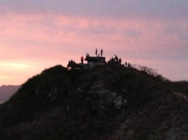 People waiting on the sunrise.