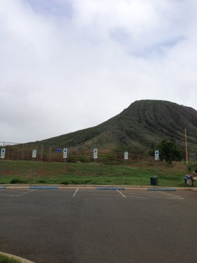 Koko Head Crater from the parking lot.