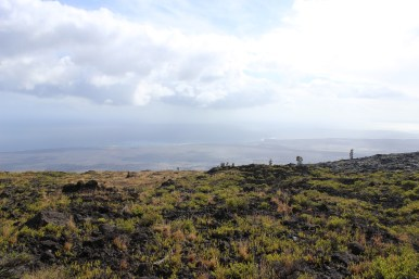 View of the ocean from Chain of Craters Road