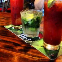 We started the night off with bloody marys and a mojito.
