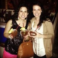 Emel and I at Duke's enjoying our drinks.