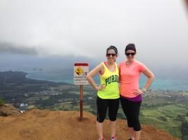 Emel and I at the top of Kuli`ou`ou trail.