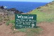 Blowhole warning sign.