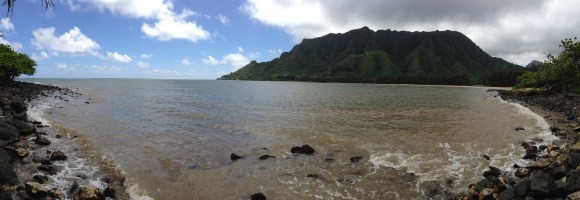 Kahana Bay after going through the tunnel.