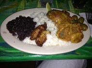 My dinner: fricase de pollo
