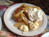 Apple cinnamon pancake.