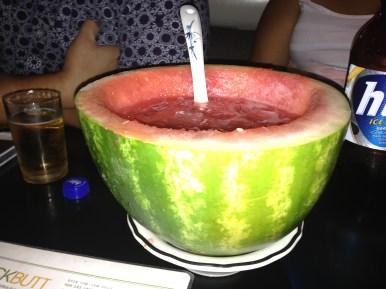 Watermelon soju. So good!