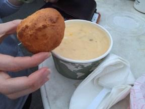 Gluten-free corn chowder!