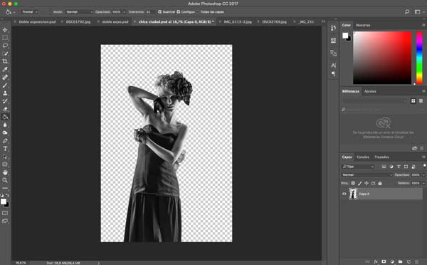 how to do a double exposure in Photoshop