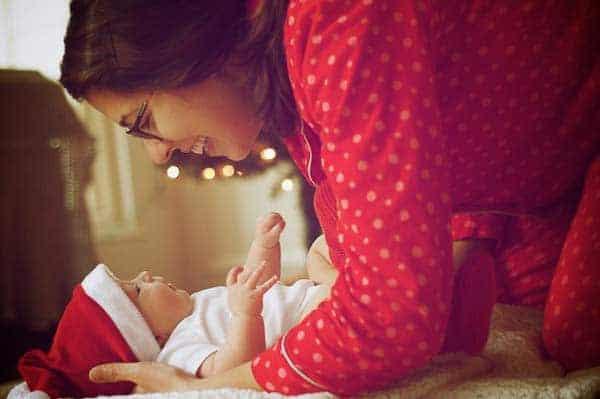 photo of a baby at christmas