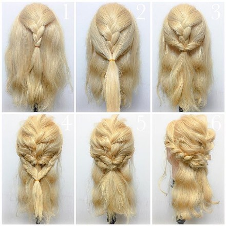 9 step-by-step Hairstyle Tutorials 01