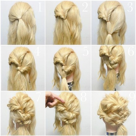 9 step-by-step Hairstyle Tutorials 07