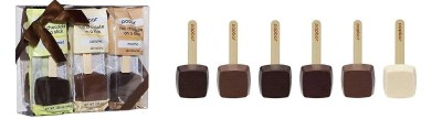 best chocolate gifts, Hot Chocolate On A Stick 6 Pack Holiday Gift Box