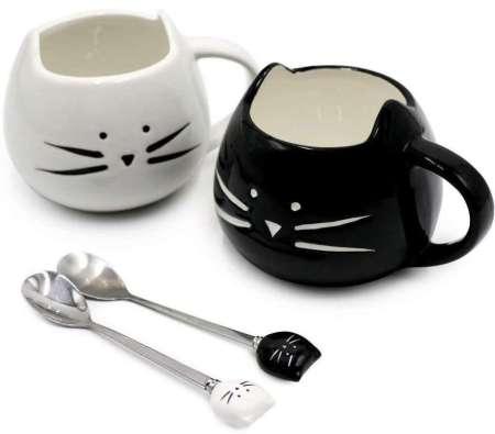 best gifts for cat lovers, Koolkatkoo Cute Cat Mug Ceramic Coffee Mugs