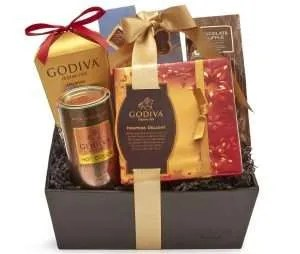 chocolate gifts, Godiva Chocolatier Hostess Delight Chocolate Gift Basket