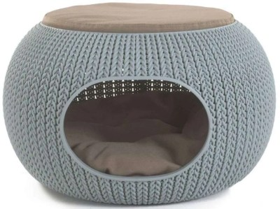 christmas cat gifts, Keter Knit Cozy Luxury Lounge Bed & Pet Home