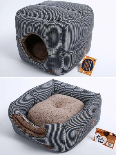 christmas cat gifts, Smiling Paws Pets Unique 2-in-1 Cat Bed:Cat Condo