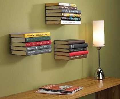 literary gift ideas, Umbra Conceal Floating Bookshelf