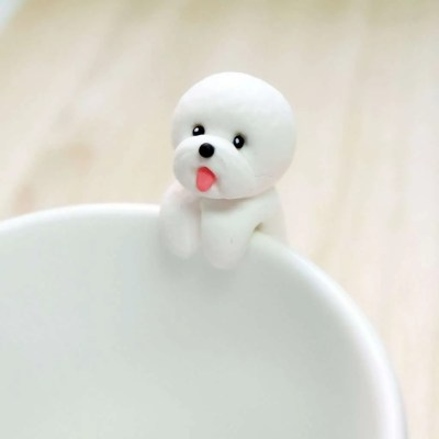 Bichon Frise Tea Bag Holder, gifts for dog lovers
