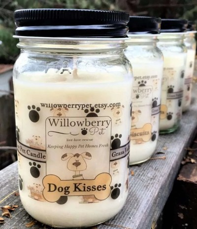 Dog Kisses Dog Candle, unique gift for dog lovers