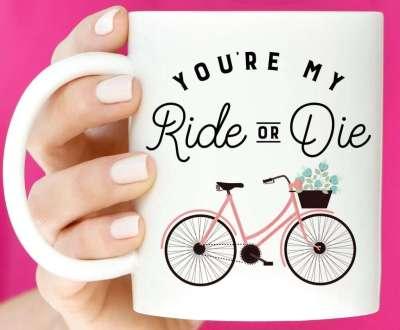Ride Or Die Coffee Mug, best valentines day gifts for girlfriend