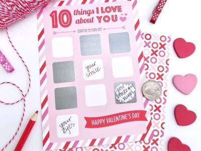 Scratch off Valentine Card, valentines day gift for husband
