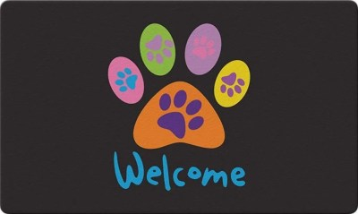 Welcome Paws Decorative Floor Mat, dog lover gifts