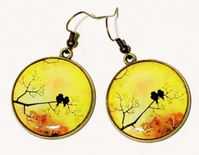 Yellow Bird Dangle Statement earrings, best valentines day gifts for girlfriend