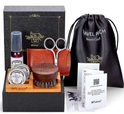 BF Wood Beard Grooming Travel Kit
