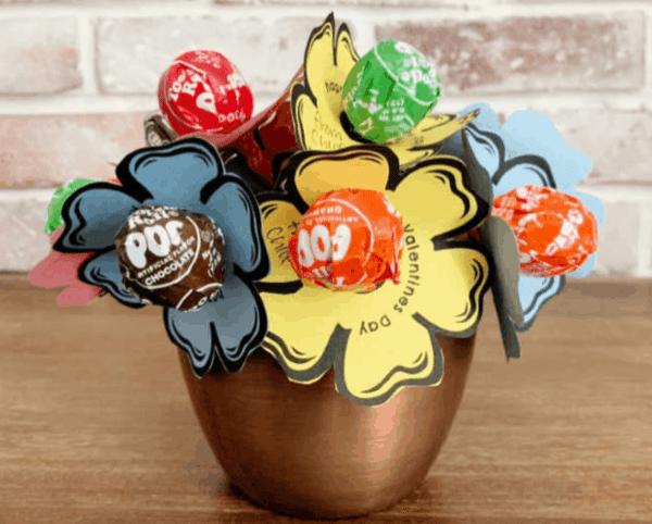 lollipop bouquet, valentine's day giy gifts