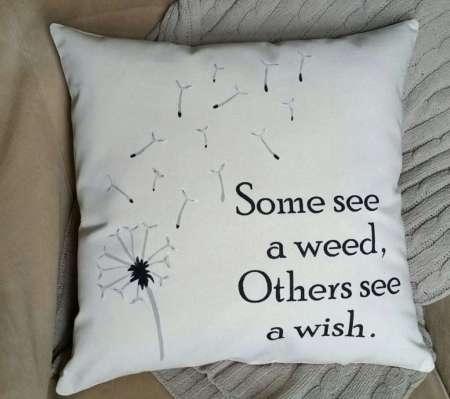 Dandelion Decorative Throw Pillow, motivational gifts, motivational gifts