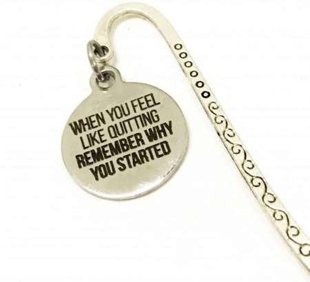 Elegant Planner Bookmark, motivational gifts