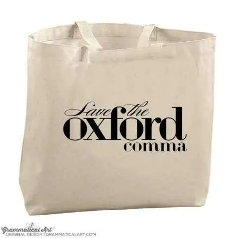 Save the Oxford Comma Tote Bag