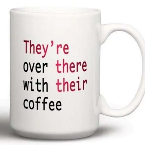 They, Their, They're Coffee Mug