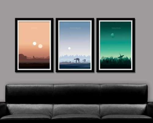 Star Wars day Inspired Minimalist Poster Set