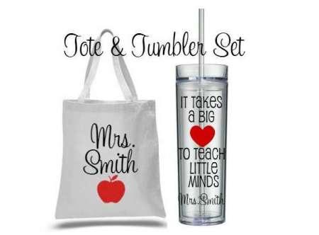 Tote and Tumbler Set, teacher appreciation day