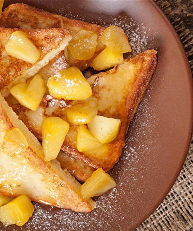 Γαλλικά τοστ με μήλο