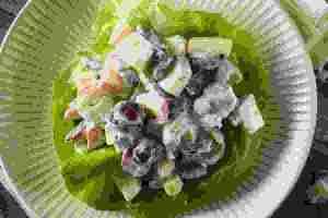 Σαλάτα με σταφύλι και τυρί κρέμα light, ιδανική για τις μέρες του φθινοπώρου - Shape.gr